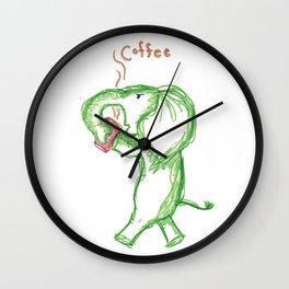 Erwin Drinks Coffee Wall Clock