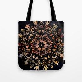 deep toned mandala pattern Tote Bag