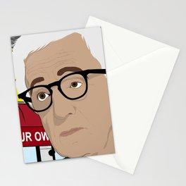 Woody Allen Cartoon Stationery Cards