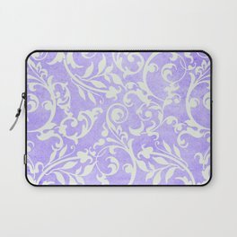 Shabby Chic purple damask Laptop Sleeve