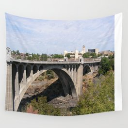 Monroe Street Bridge in Spokane Washington Wall Tapestry