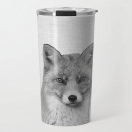 Fox - Black & White Travel Mug