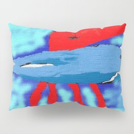 The polyp and the whale Pillow Sham
