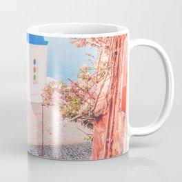 Santorini Greece Pink Old Street Travel photography Coffee Mug
