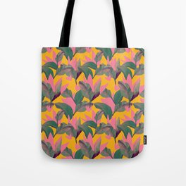 Retro Luxe Lilies Pattern Tote Bag