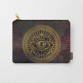 All Seeing Mystic Eye Gold on Nebula Sky Carry-All Pouch