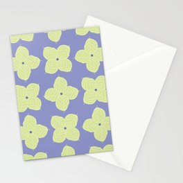 Abstract Flower Foliage Pattern Stationery Cards