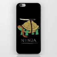 coffe iPhone & iPod Skins featuring ninja by Louis Roskosch