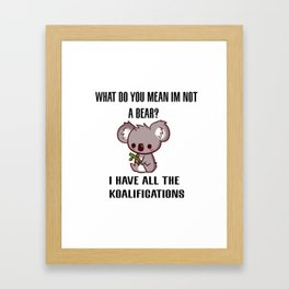Kowala Bear Framed Art Print