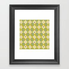 leaves and bugs Framed Art Print