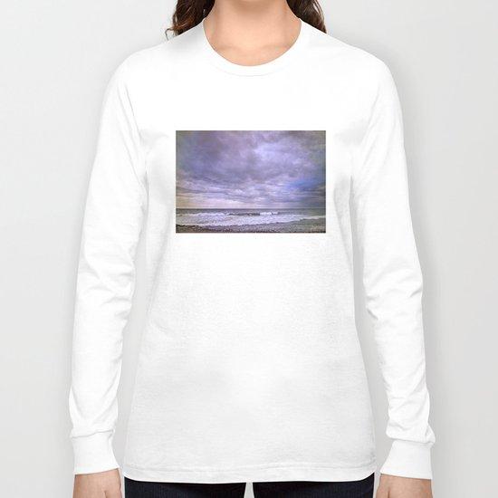 Rain storm at the sea Long Sleeve T-shirt