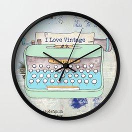 Typewriter #8 Wall Clock