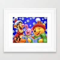 pooh Framed Art Prints featuring pooh 2 by Just Be Love