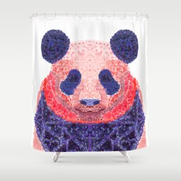 Don't Be Scared To Be Different If You're Already Rare (Panda Animal Painting Stippled Pop Art) Shower Curtain