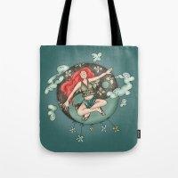 ying yang Tote Bags featuring Ying Yang by Catru