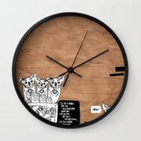 transistor Wall Clocks featuring culpa by Ajokano
