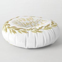 ISAIAH TWENTY SIX VERSE THREE II. (26:3) JUBIL PRINTS Floor Pillow