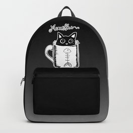 Hand Drawing Meowffee Backpack
