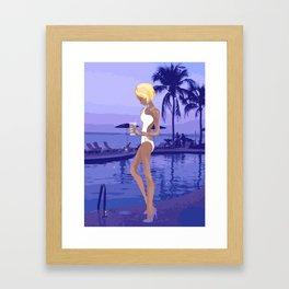 poolside ladies Framed Art Print