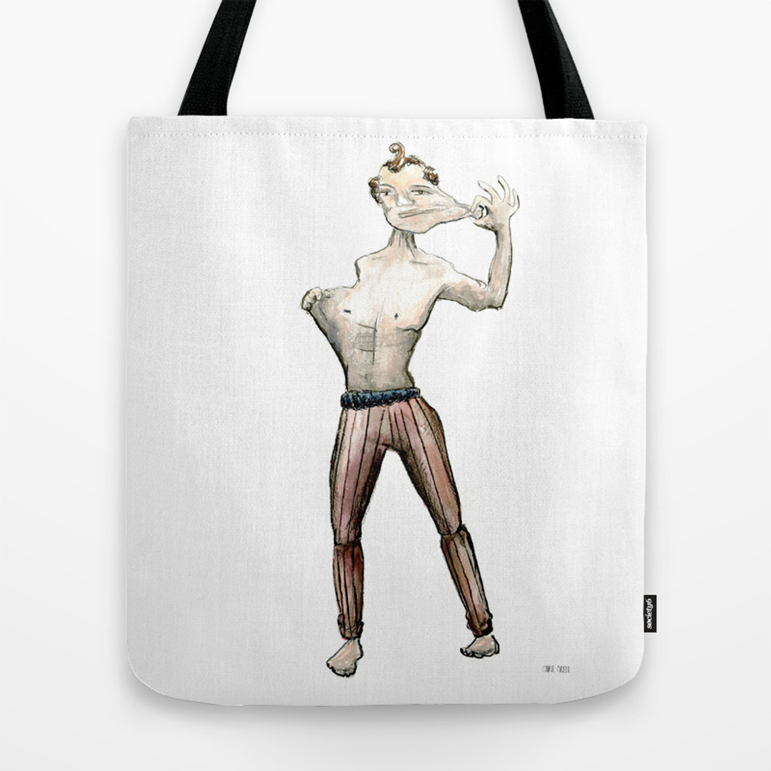 Elastic Man Tote Bag By Charoden Society6