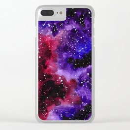 Purple Nebula Clear iPhone Case