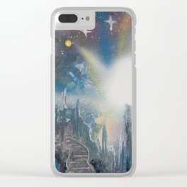 Citadel Spacescape - Spray Paint Art Clear iPhone Case