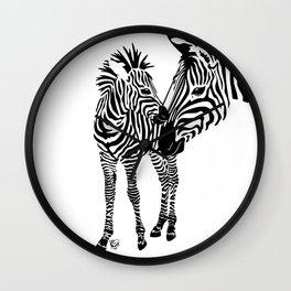 Love Stripes Two Wall Clock