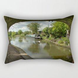 Barge thro the bridge Rectangular Pillow