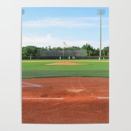 Play Ball! - Home Plate - For Bar or Bedroom Poster