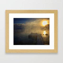 Hot Pot Springs Framed Art Print