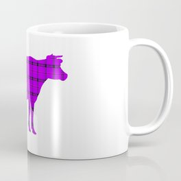 Cow: Purple Plaid Coffee Mug