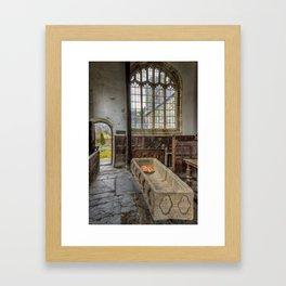 Coffin at Gwydir Chapel Framed Art Print