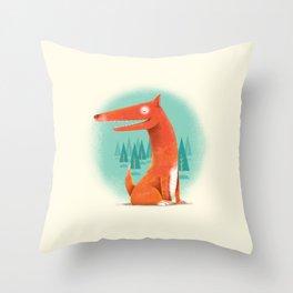 Red Dog Throw Pillow