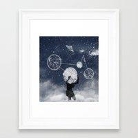 atlas Framed Art Prints featuring Atlas by Slug Draws