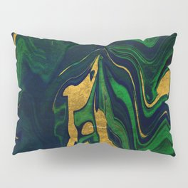 Rhapsody in Blue and Green and Gold Pillow Sham