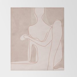 Abstract Woman Figure Throw Blanket