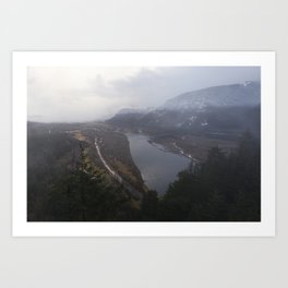 Storms over the Columbia River Gorge Art Print