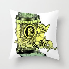 Read a Zine Throw Pillow