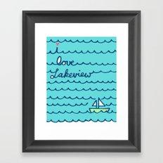 I Love Lakeview Framed Art Print