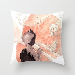 Emperor of the Feathered Ghosts Throw Pillow