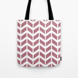 Dusty pink and white chevron pattern Tote Bag