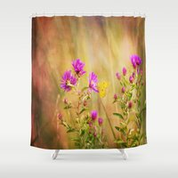 wonder Shower Curtains featuring Wonder by Erin McClain Studio