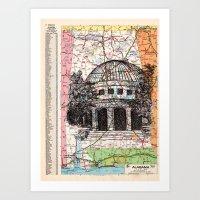 alabama Art Prints featuring Alabama by Ursula Rodgers