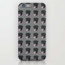 Black Lab with Its Tongue Out iPhone Case