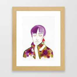 Cory with Winter Coat Framed Art Print
