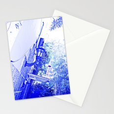 Blue lamp intense. Stationery Cards