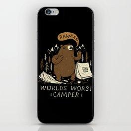 worlds worst camper iPhone Skin