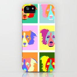 Border Collie Pop Art iPhone Case