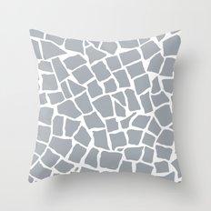 Mosaic Zoom Grey Throw Pillow
