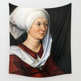 Portrait of Barbara by Albrecht Dürer Wall Tapestry